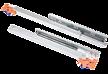 Prowadnica kryta, kulkowa CB20ST długość 30cm. Do szuflad drewnianych z hamulcem. Obciążenie - 25 kg na parę prowadnic Długość - 300 mm Pełny wysuw...