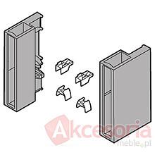 Zestaw uchwytów do mocowania elementów dekoracyjnych o grubości 8mm w wysokości D Przeznaczony do szuflad Tandembox ANTARO Wykonane z jasnoszarego...