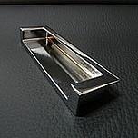 Uchwyt wpuszczany nowoczesny, uniwersalny w zastosowaniu, pokrycie galwaniczne - chrom połysk Rozstaw 128mm, uchwyt występuje również w rozstawie 96mm...