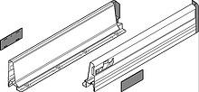 Boki 358MSzare do szuflady TANDEMBOX plus dł.30cm Wysokość boku: M=83 mm Do długości prowadnicy: 300 mm Wymiar wewnętrzny: 274 mm Materiał: stal...