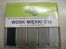 Wosk miękki C 12 to profesjonalny produkt służący do retuszu drobnych rys, uszkodzeń na wyrobach z : - drewna - forniru - płyt meblowych - tworzyw...