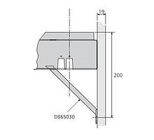 Mocowanie frontu wysokiego DB65030-2 czarne do DAFR20. Rysunki techniczne DXF