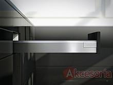 Zestaw elementów do wykonania szuflady Tandembox ANTARO z hamulcem bok N wysokość 68mm (zabudowa 81,5mm) kolor SZARY długość prowadnic 500mm wysuw...