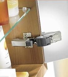 BLUMOTION 973A9000 zastosowanie do zawiasów CRISTALLO Hamulec na zawias klejony do drzwi szklanych - Cristallo. Powoduje ciche i delikatne zamykanie drzwi....
