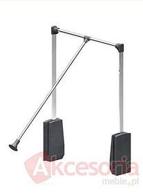 Pantograf aluminiowy czarny. Umożliwia wygodne zawieszanie oraz zdejmowanie ubrań. Zapewnia optymalne wykorzystanie górnej części garderoby. Dostępna...