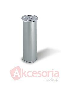 Nóżka z regulacją w pokryciu aluminium naturalnego, wysokość 18cmplus regulacja 1cm.