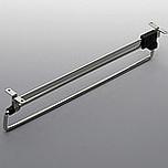 Wieszak wysuwny L 250.  Kolor pokrycia - nikiel. Długość wieszaka - 250mm.   Wieszak pozwala optymalnie wykorzystać górną część szafy.