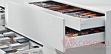 Zestaw elementów do wykonania szuflady Tandembox ANTARO wewnętrznej z hamulcem bok M wysokość 83,6mm (zabudowa 98,5mm) kolor SZARY długość prowadnic...