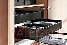 Zestaw elementów do wykonania szuflady Tandembox ANTARO wewnętrznej z hamulcem bok M wysokość 83,6mm (zabudowa 98,5mm) kolor brunatnoczarny długość...