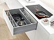 Zestaw elementów do wykonania szuflady Tandembox ANTARO z hamulcem bok M plus 1 reling kwadratowy i element dekoracyjny Z37A wysokość 199mm (zabudowa...