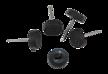 Ślizgacz pojedynczy z gwoździem fi.15mm Wysokość 5mm Cena za pakowanie 1000sztuk