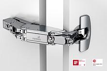 """Zawias automatyczny z techniką montażu na prowadnik typu """"clip"""" Klasyfikacja jakości zgodnie z EN 15570, poziom 2 Do drzwi o grubości 16 - 24 mm..."""