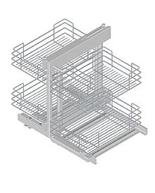 VARIANT PLUS Corner Comfort 800 lewy metal lakier srebrny  * prowadnice kulkowe REJS z miękkim dociągiem * system mocowania kosza: zawieszany na stelażu...