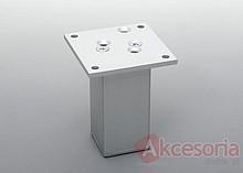 Nóżka aluminiowa kwadratowa, wys. 12cm bez regulacji wysokości.