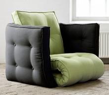 """Unikalny fotel """"kostka"""". Po rozłożeniu możemy otrzymać z niego dwa materace o wymiarach 60x200 cm. Daje stabilne i wysokie podparcie plecom...."""