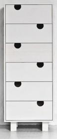 Komoda wykonana z litej sosny. Dostępna w kolorze białym lub w naturalnej sośnie. Wymiary: 40x50x130 h  UWAGA - Prezentowane zdjęcia mają charakter...