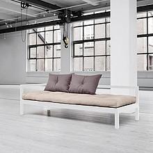 Sofa o wymiarach 75x200 dostępna w kolorach: białym, czarnym oraz szarnym z materacem w zestawie typu: futon naturalny do wyboru kilkadziesiąt rodzajów...